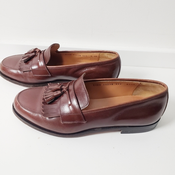 Salvatore Ferragamo Dress Brown Tassel Loafers